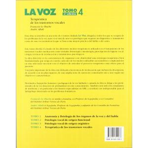 """La Voz Tomo 4 """"Terapeutica de los Trastornos Vocales"""""""