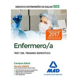 Enfermero/a del Servicio Extremeño de Salud (SES). Test específico