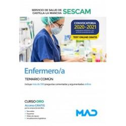 Enfermero/a del Servicio de Salud de Castilla-La Mancha (SESCAM). Temario común y test