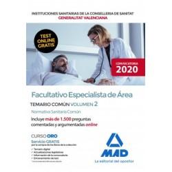 Facultativo Especialista de Área Instituciones Sanitarias de la Consellería de Sanidad de la Comunidad Valenciana